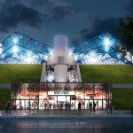 Le palais omnisports de Bercy est en plein travaux avec l'ambition de devenir comme le montre ses images de synthese une des plus belles arena du monde.